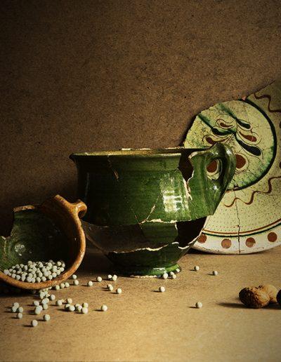 Groene potten, grauwe erwten